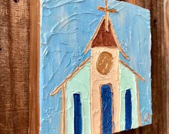 6x6 Church on Canvas