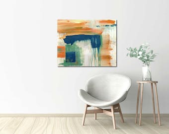 Big Fish, Original abstract painting, modern abstract canvas, modern decor, minimal painting, mid century modern decor, acrylic abstract