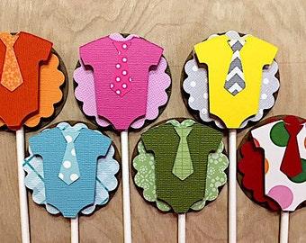 Baby Onesie Cupcake Toppers, Onesie Decorations, Onesie Baby Shower, Set of 12