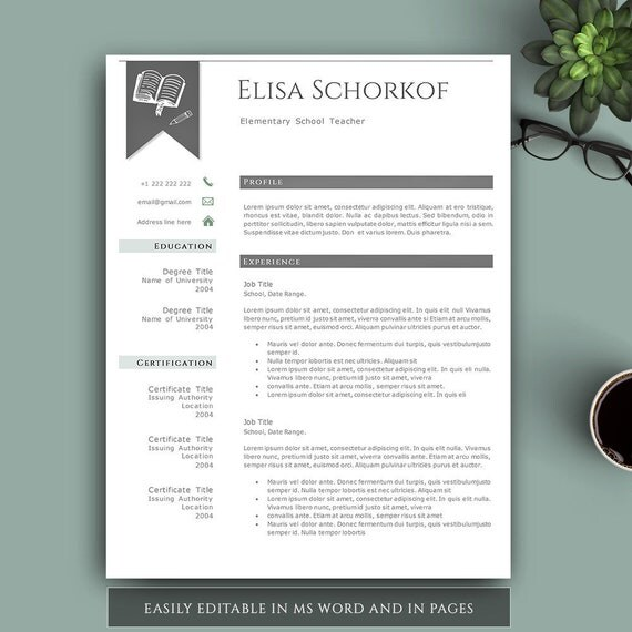amazing resume templates free teacher template creative professional page impressive for word and pages freshers download