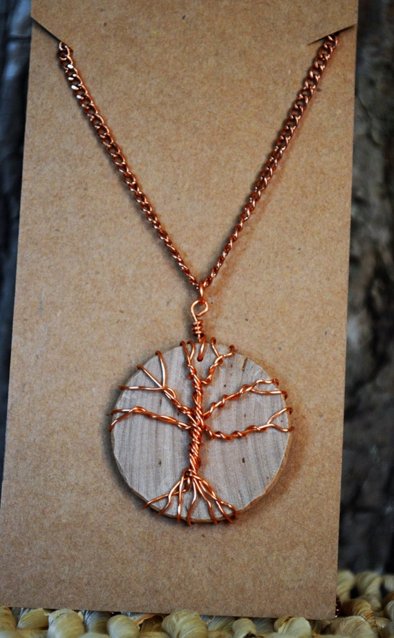Tree Necklace, Wire Wrapped Tree Necklace, Tree of Life Necklace, Copper