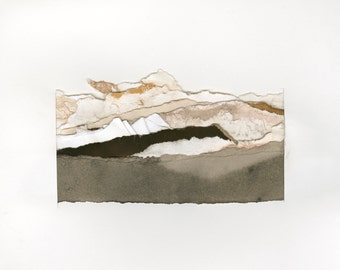 Abstract Mountain Landscape | Fine Art Print | Collage 4