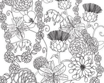 Daisy Chain Colouring Page