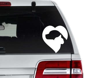 Cat and Dog Decal - Cat Decal - Dog Decal - Animal Lover Decal - Gift for Groomer - Gift for Vet - Dog Car Decal - Vet Tech Gift - Cat Heart