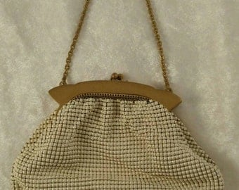 Vintage Whiting & Davis Mesh Purse, White