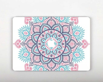 Mandala Flower Decal Mac Air Decal Marble Sticker Laptop Decal Sticker Laptop Macbook Skin Vinyl Computer Sticker Macbook Sticker SG097