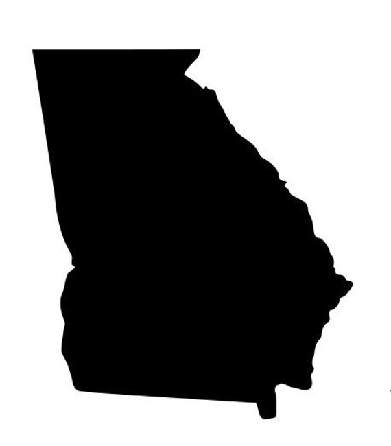 State Of Georgia Ga Outline Laptop Cup Decal Svg Digital