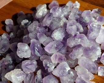 Bulk Tumbled Rough Amethyst Crystals - Skeletal Amethyst