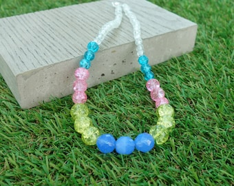 Pink, Yellow & Blue Pop Necklace