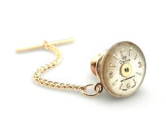 Ortin lapel pin - Gadget Lapel Pin - Clockworks Lapel Pin - Geekery Lapel Pin - Techie Lapel Pin - Watch Dial Lapel Pin - Steampunk Lapel
