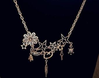 Charm Bib Necklace