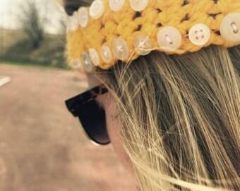 Bulky Yellow Headband