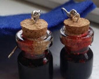 Mini Potion Ingredient Earrings - Vampire Blood