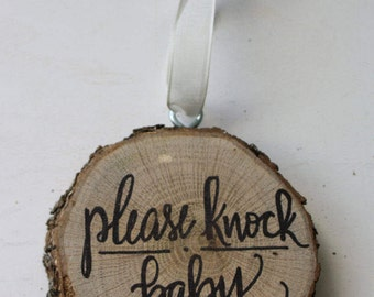 Please Knock Sign Etsy