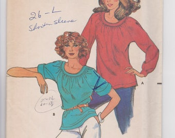Butterick 3024 / Misses Blouse / Size Large / 70's Vintage Sewing Pattern