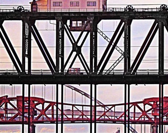 Steel Bridge, Broadway Bridge, Fremont Bridge, Portland Bridges Art, Fine Art Photograph