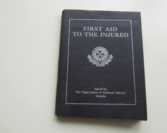 First Aid Book Issued By Canada DND For WW2 Troops