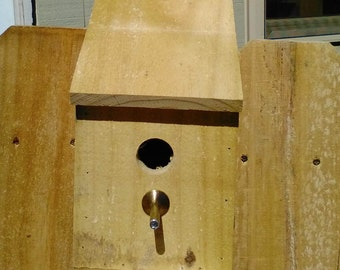 Birdhouse for Wooden Privacy Fence