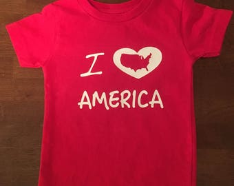 I love America shirt, Patriotic shirt, Fourth of July shirt, July 4th shirt