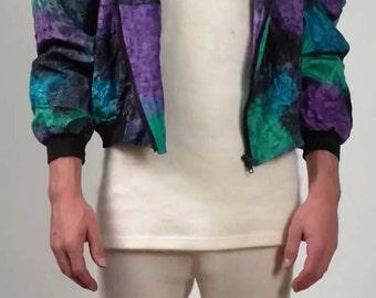 shiny pattern jacket