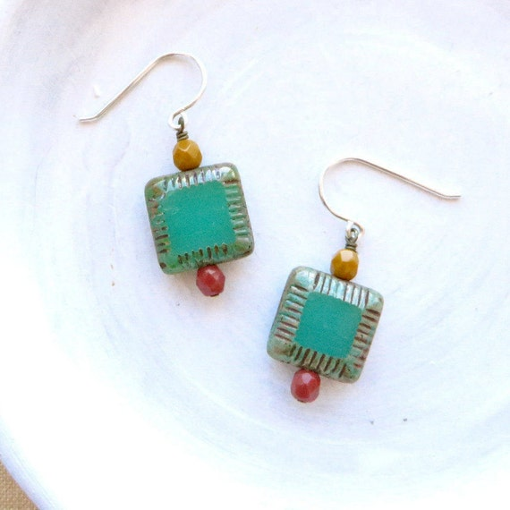 Pillow Earrings > Turquoise