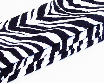 Bold Zebra Cotton Napkins / Set of 4 / Black & White Crisp Modern Table Decor / Unique Eco-Friendly Gift Under 50