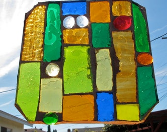 SALE - Stained Glass Mosaic Suncatcher