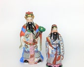 Vintage Oriental Man Figurine Small // Asian Statue // Chinoiserie Style