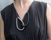 Charlie Necklace | Classic Collection | Stainless Steel Jewelry | Contemporary Necklace | Modern Gift| Hand Made | Gift For Her