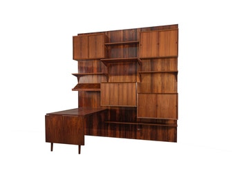 Rosewood Royal Wall Unit System Cado by Poul Cadovius