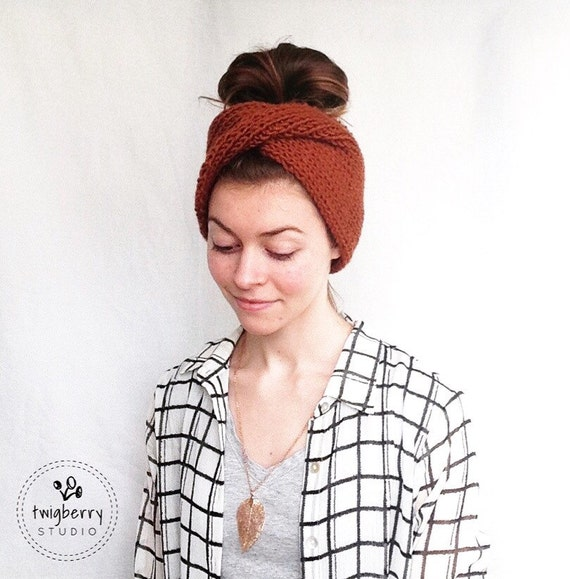 Knit Turban Knit Headband Twisted Turban Twisted Headband