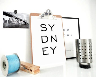 Sydney Printable Print, Australia Art Print, Sydney Poster, Gift for Traveller, Minimal Wall Art,  Scandinavian Art, Home Decor, PDF & JPG