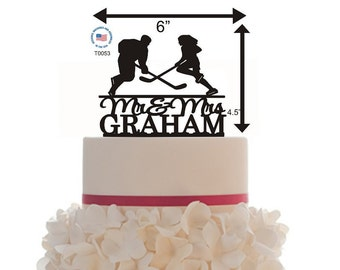 Personalized Mr and Mrs Custom Wedding Cake Topper with your last name - Removable Spikes - Last Name Topper - Keepsake - cake topper name