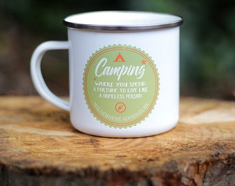 Enamel Mug, Camping Mug, Enamel Mugs, Camping, Outdoor, Father's Day Gift, Coffee Mug, Camping Equipment