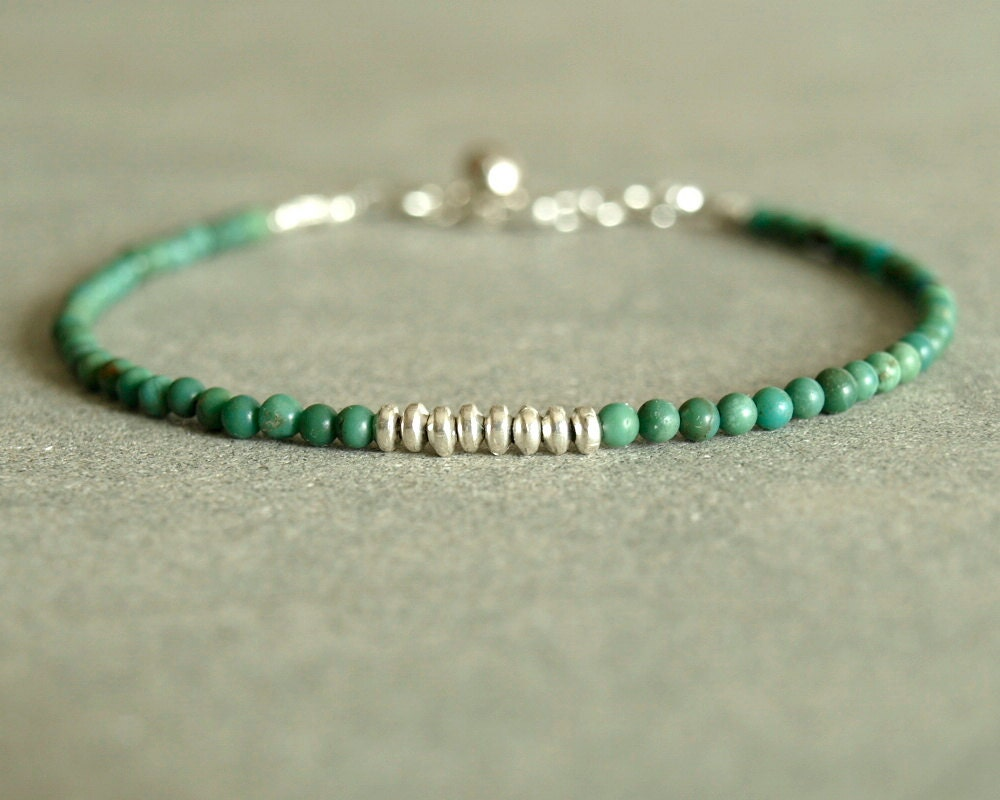 turquoise bracelet sterling round small turquoise beads. Black Bedroom Furniture Sets. Home Design Ideas