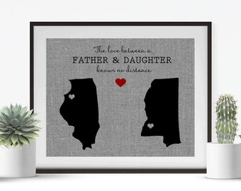 The Love Between A Father & Daughter • Personalized Gift for Dad • Gift from Daughter • Dad Birthday Gift • Fathers Day Gift • Gift from Son