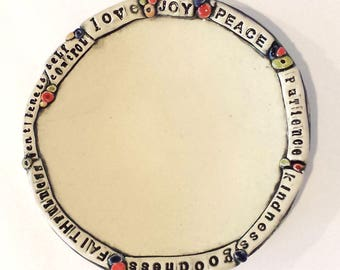 Fruit of the Spirit - Handmade Ceramic Plate -EXPRESSives