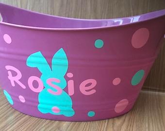 Personalized Easter Basket / Easter Bucket / Easter Basket / Easter / Personalized Bucket / Personalized Basket /  Plastic Easter Bucket