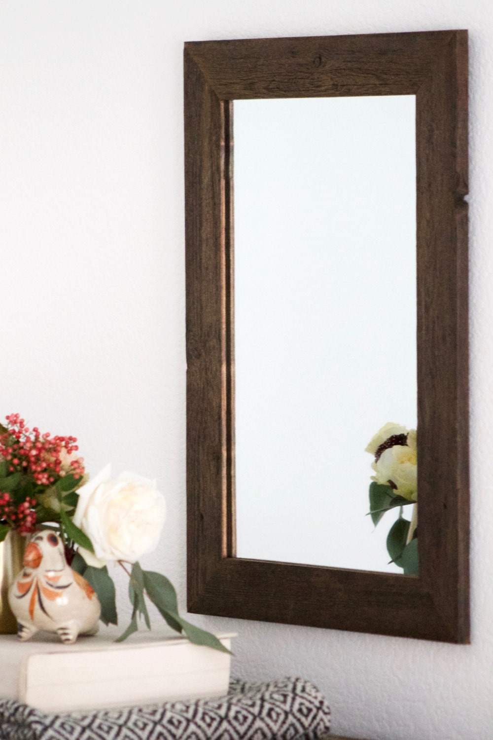 Rustic Wall Mirror Small Wall Mirror 16 X 22 Vanity Mirror