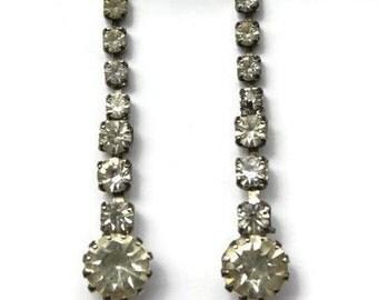 Classy Vintage Rhinestone Earrings