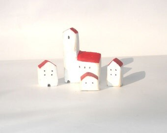 Little wooden village / Wooden town / Rustic houses
