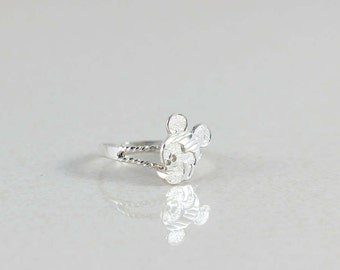 Sterling Silver Mickey Mouse Ring size 6 Disney Jewelry