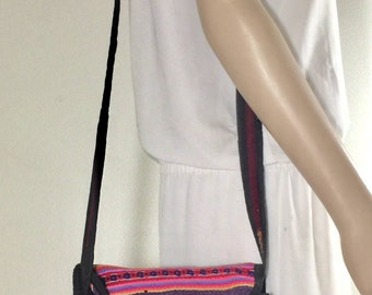Kilim Purse, Shoulder Bag, Brown, Purple, Pink, Cross body, Shoulder Bag