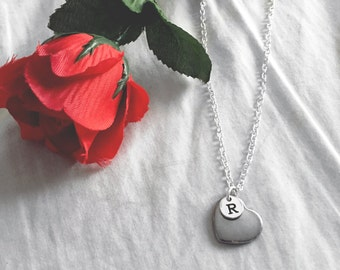 Wedding Jewelry | Bridesmaid Gift | Flower Girl Gift | Heart Necklace | Valentine's Gift | Wedding Gift | Personalised Gift | Anniversary