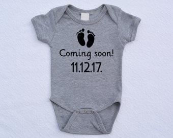 Coming Soon Baby Announcement Bodysuit