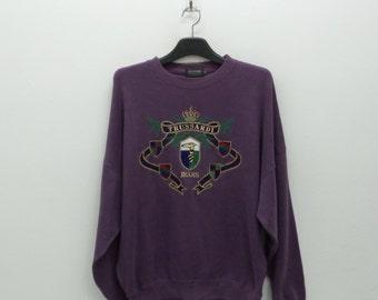 Trussardi Sweatshirt Vintage Trussardi Pullover Trussardi Jeans Vintage Sweat Size 46 Mens Size M