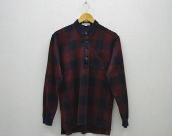 Burberrys Shirt Men Size S Vintage Burberrys Casual Shirt 90s Burberrys Vintage Plaid Shirt