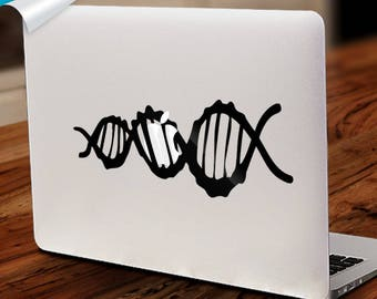 DNA Decal, Macbook DNA,Chemistry Decal,Chemical Mac, Chemisrty Macbook,Dna Laptop, Chemistry Mac, Science Macbook,Science Mac,Science Laptop