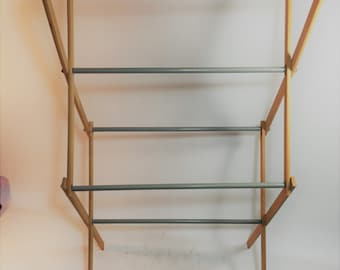 Vintage Expandable Wood Drying Rack