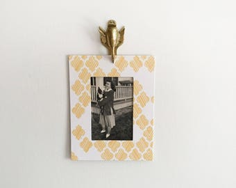 Vintage Brass Clip - Duck Wall Hook or Picture Hanger - Note Clip Holder